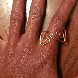 Adjustable Copper Tri-ral Ring