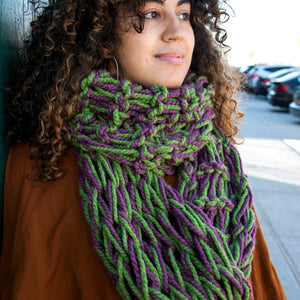 """Wanna Wrap You Up"" Arm-Knit Infinity Scarf"