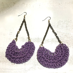 """Les Fleurs"" Crocheted Earrings"