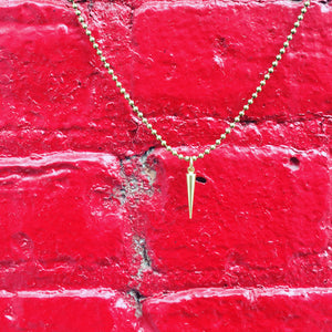 """The Point of it All"" Brass Charm Necklace"