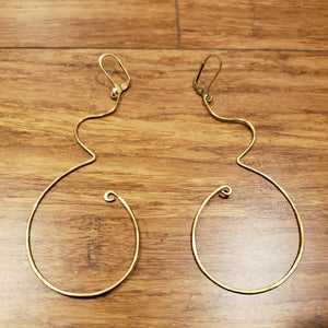 """Wombyn"" Hammered Abstract Earrings"