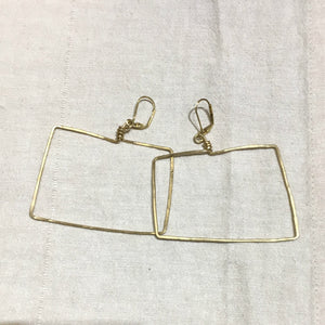 """Wrongtangle"" Hammered Earrings"