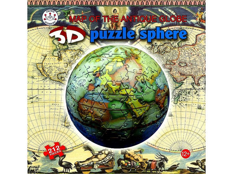 3D Globe Puzzle - Sphere Antique World Map