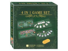 4 in 1 Game Set - Poker, Black Jack, Roulette & Craps (Casino by GameLand)