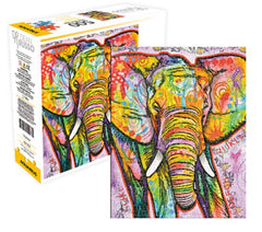 Animal Puzzle - Elephant Art by Dean Russo (500 Pieces)