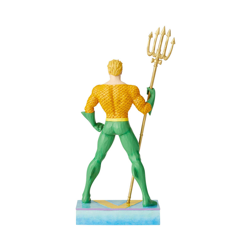 Aquaman Statue by Jim Shore (Classic Silver Age - Carved Style)