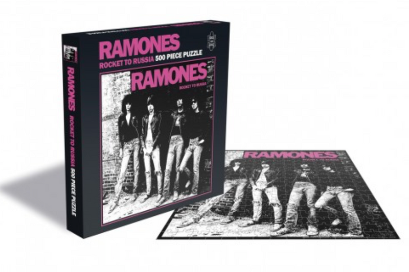 Rocksaw Band Puzzle - The Ramones 'Rocket to Russia' Album Cover (500 Pieces)