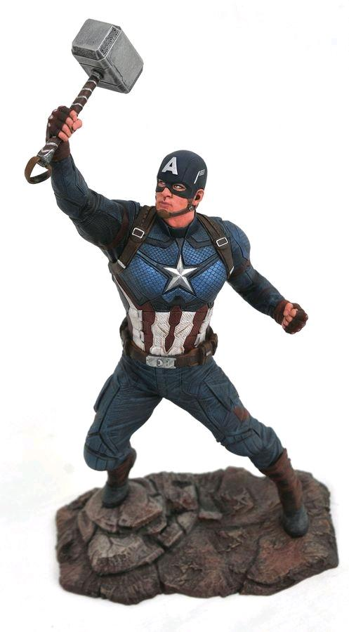 Captain America Statue 22cm PVC Gallery - End Game with Thor's Hammer
