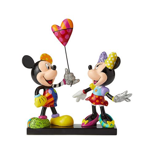 Mickey and Minnie with Balloon - Disney by Britto (Limited to 3,000 with Certificate of Authenticity)