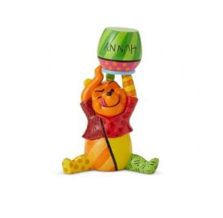 Winnie the Pooh Figurine (Small with Honey Pot) - Disney by Britto
