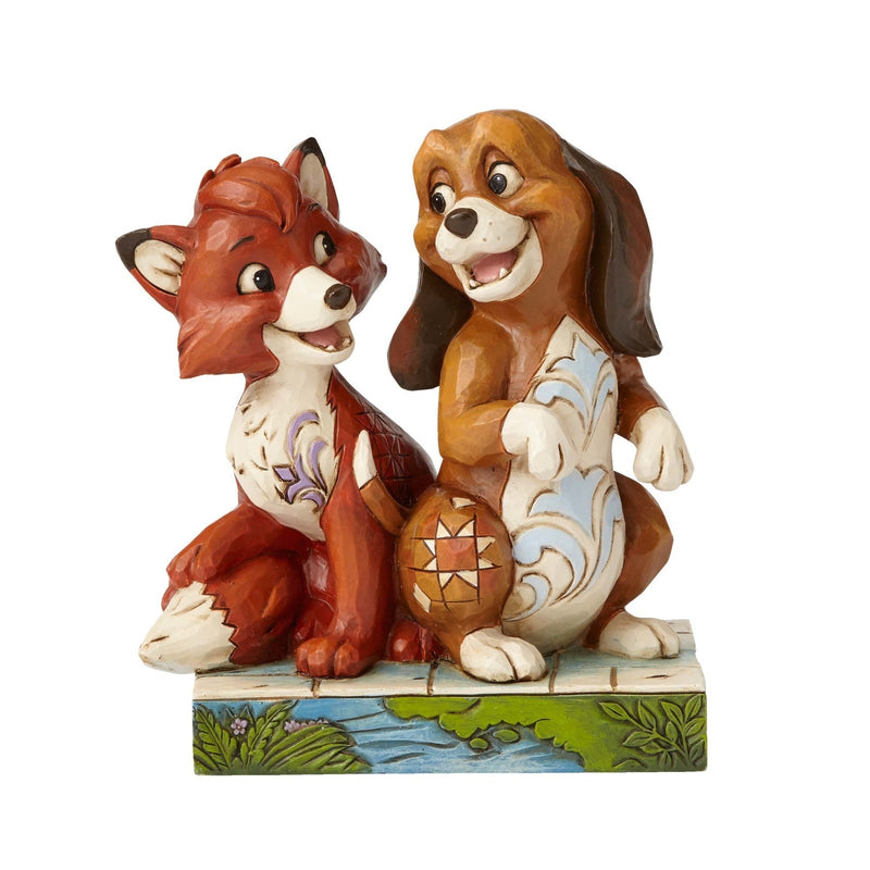 Jim Shore -Fox and the Hound 'Unexpected Friendships' (Disney Traditions Figurine)