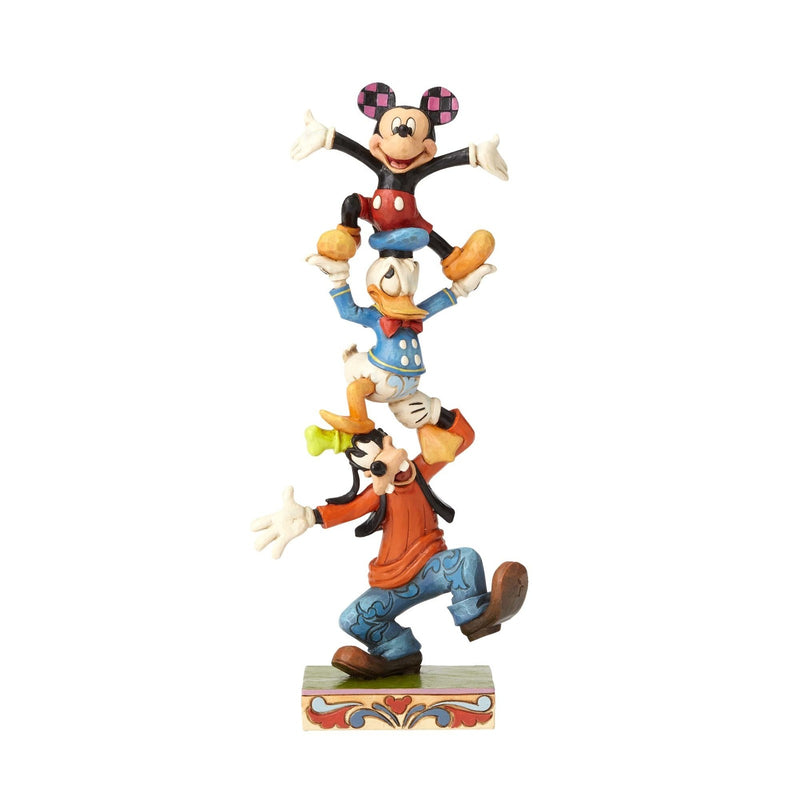 Jim Shore - Mickey, Goofy and Donald Stack 'Teetering Tower' (Disney Traditions Figurine)