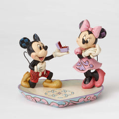 Jim Shore - Mickey Proposing to Minnie 'Magical Moment' (Disney Traditions Figurine)