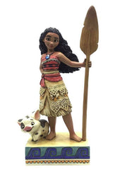 Jim Shore - Moana & Pua the Pig 'Find Your Own Way' (Disney Traditions Figurine)