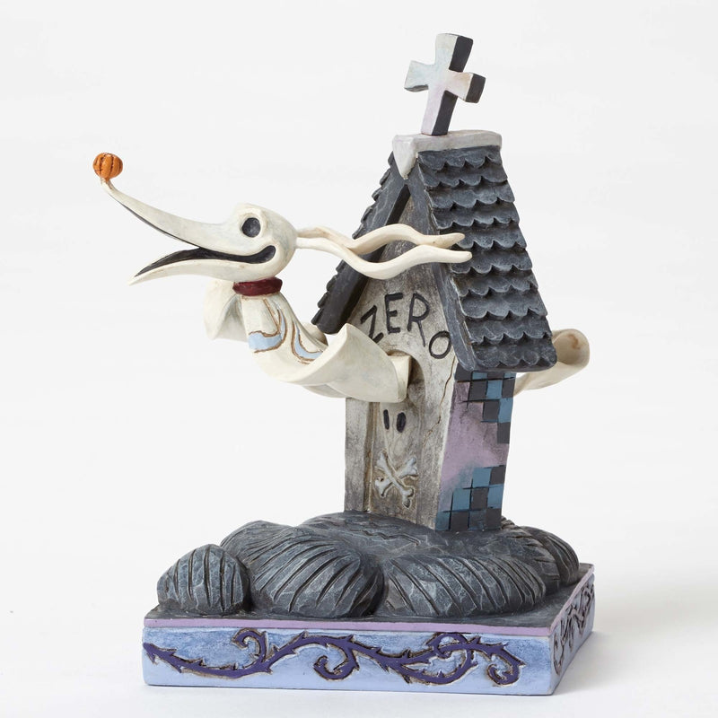 Jim Shore - Nightmare Before Christmas: Zero & Dog House 'Floating Friend' (Disney Traditions Figurine)