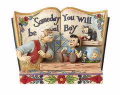 Jim Shore - Pinocchio Storybook 'Someday You Will Be A Real Boy' (Disney Traditions Figurine)
