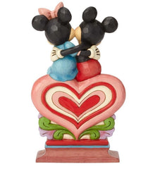 Jim Shore - Mickey and Minnie Sitting 'Heart to Heart'