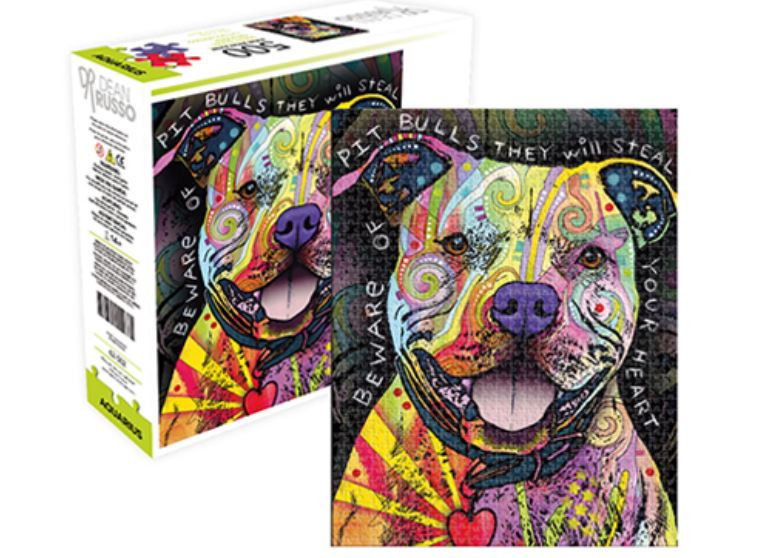 Dog Puzzle - Pit Bull / Staffy by Dean Russo (500 Pieces)