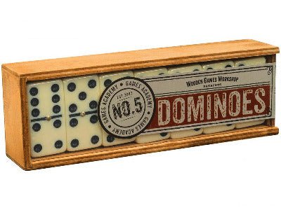Dominoes in Wooden Travel Box (By Games Academy)
