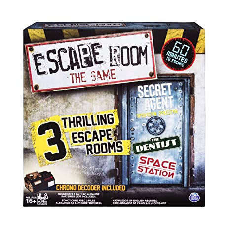 Escape Room the Game (3 Challenges: Secret Agent, Dentist, Space Station)