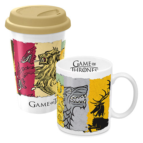 Game of Thrones - Mug & Reusable Travel Coffee Mugs Cup Gift Set