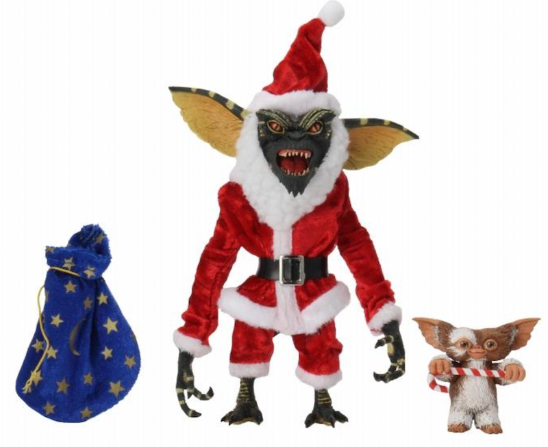 Gremlins Action Figure - Santa Stripe and Gizmo Christmas 7 Inch Scale by NECA