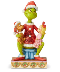 The Grinch Christmas Figurine (Jim Shore) - Cindy and Max on his Lap