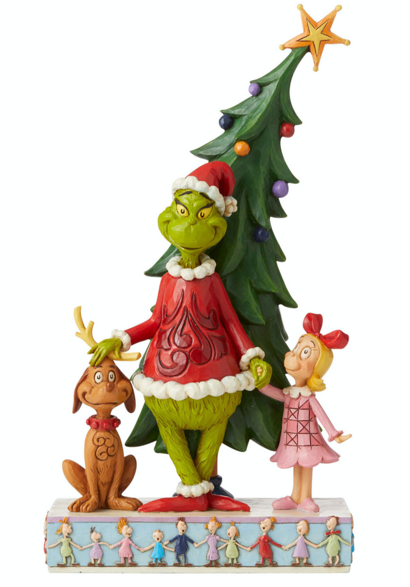 The Grinch Christmas Figurine (Jim Shore) - Holding Max the Dog