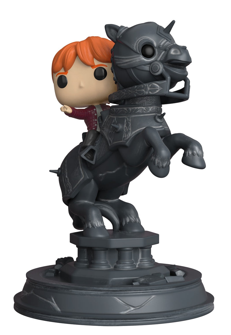 Harry Potter Pop Vinyl - Ron on Chess Piece (Deluxe Movie Moment)