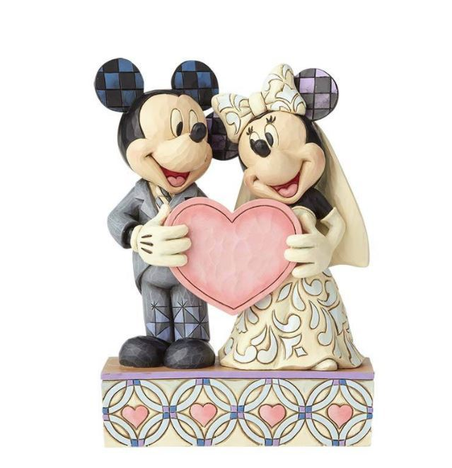 Jim Shore - Mickie & Minnie Wedding 'Two Souls One Heart' 17cm (Disney Traditions Figurine)