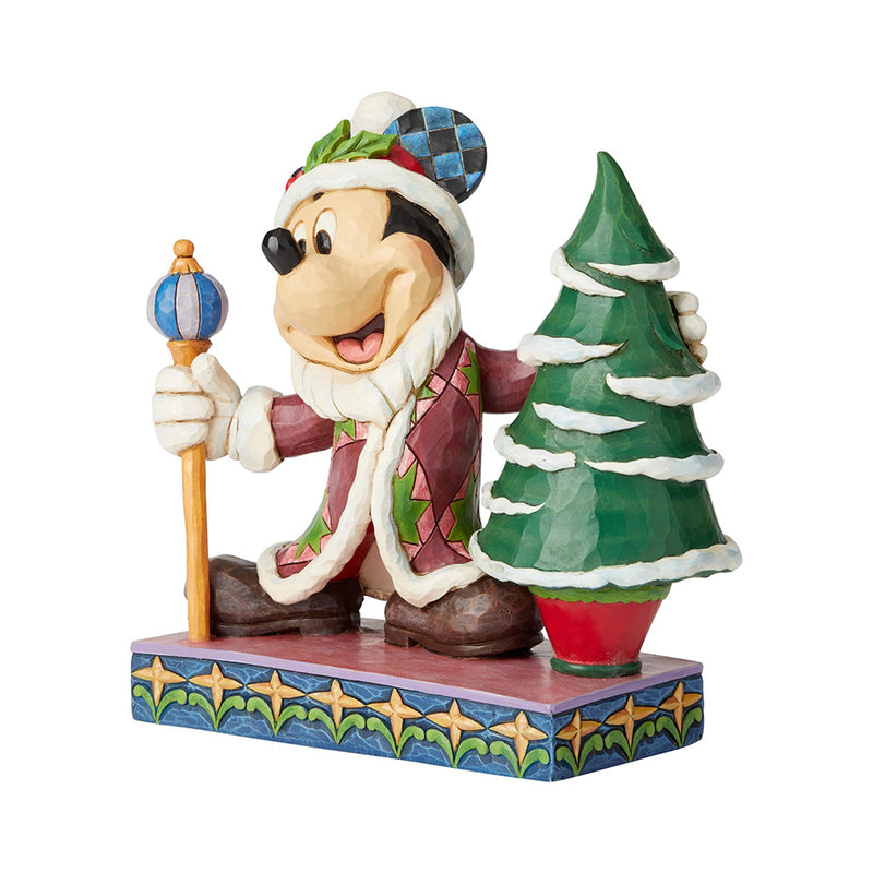 "Jim Shore - Mickey Mouse as Father Christmas ""Ol St Mick"" (Disney Traditions Figurine)"