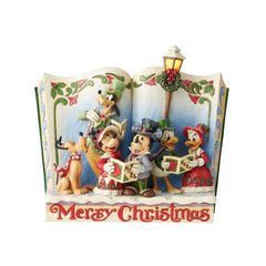 Jim Shore - Christmas Carols Storybook with Light (Disney Traditions Figurine)