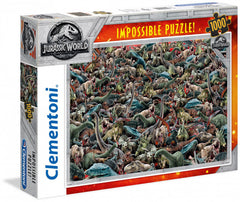 Clementoni Puzzle - Jurassic World ('Impossible' Dinosaur Collage) 1000 Pieces