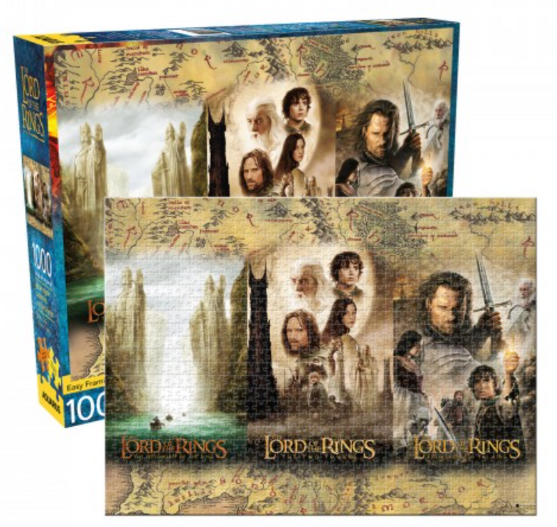 Lord of the Rings Puzzle - Movie Trilogy Posters (1000 Pieces)
