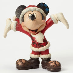 Jim Shore - Mickey Mouse Christmas Personality (Disney Traditions Figurine)
