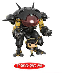Overwatch Pop! Vinyl - DVa and MEKA (Carbon Fibre) Large 6 Inch US Exclusive