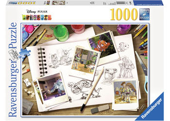Ravensburger Puzzle - Disney Pixar Sketches World of Disney (1000 piece)