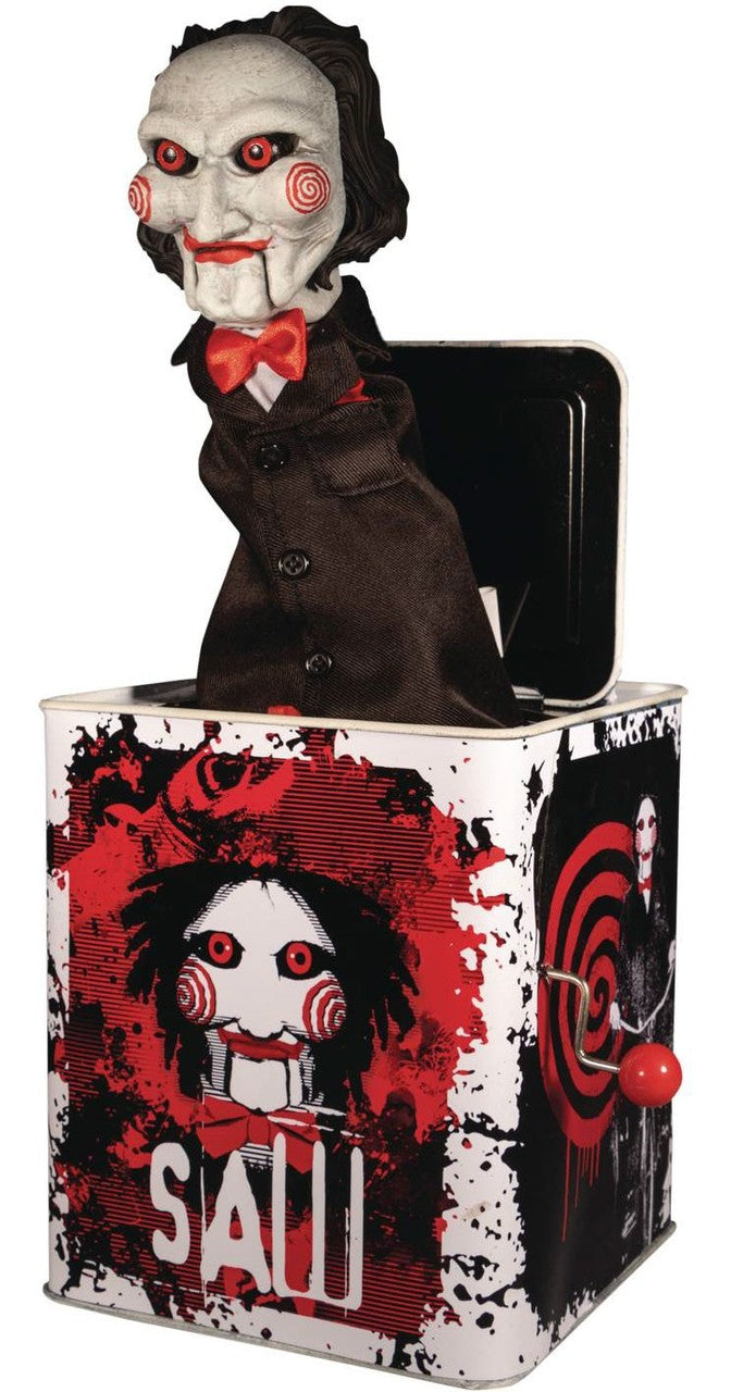 "Saw - Billy 'Burst A Box' by Mezco (36cm ""Jack in the Box"" Figure)"