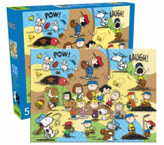 Snoopy Puzzle - Peanuts Baseball Game (500 Pieces)