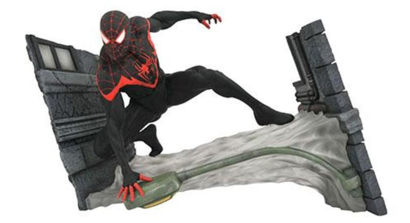 Spiderman Statue - Miles Morales Marvel Gallery 17cm x 28cm PVC by Diamond Select