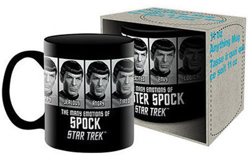 Star Trek Coffee Mug - Many Emotions of Spock