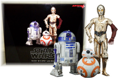 Star Wars Statues Kotobukiya (Art FX 1/10 Scale PVC) - C3PO, R2D2 & BB8 Figure Set