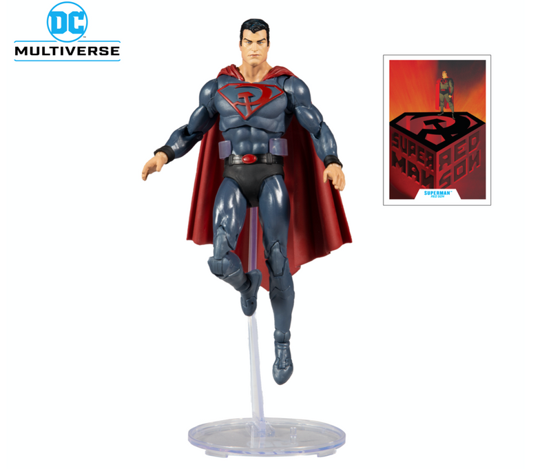 Superman Action Figure - 7 Inch Red Son Multiverse by McFarlane