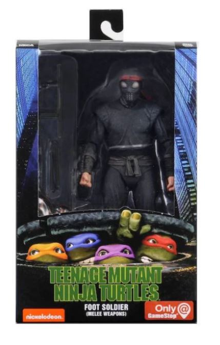 TMNT (1990) Foot Soldier (MELEE WEAPONS) Action Figure 7 Inch Scale by NECA