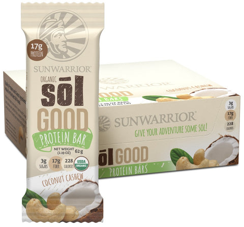 Sol Good Bars Coconut Cashew 12pk