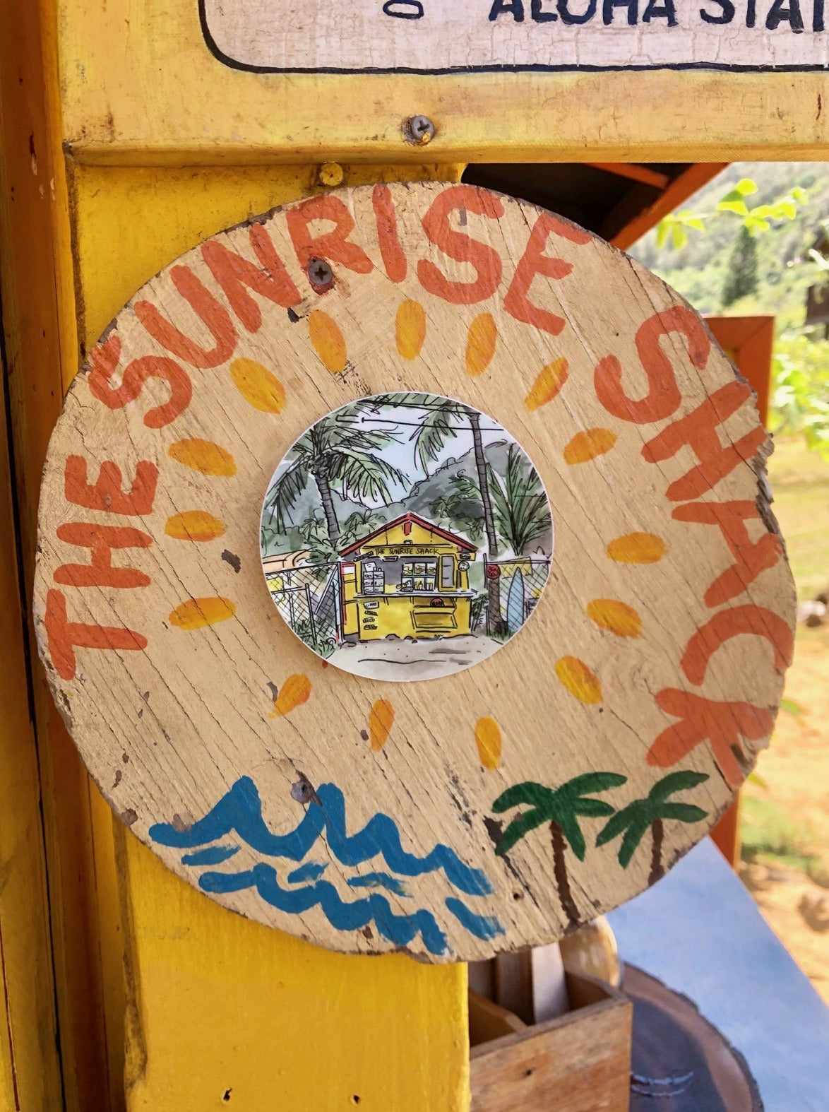 The Sunrise Shack Sticker