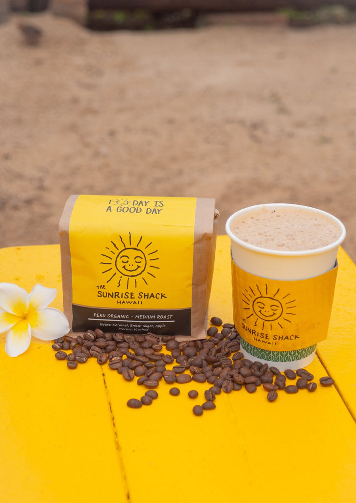 """Sunrise Shack"" Organic Whole Bean Coffee"