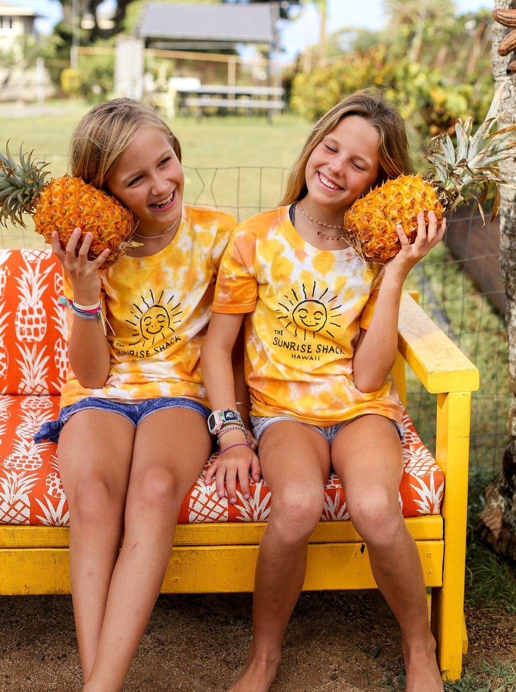 Kids yellow tie-dye shirt