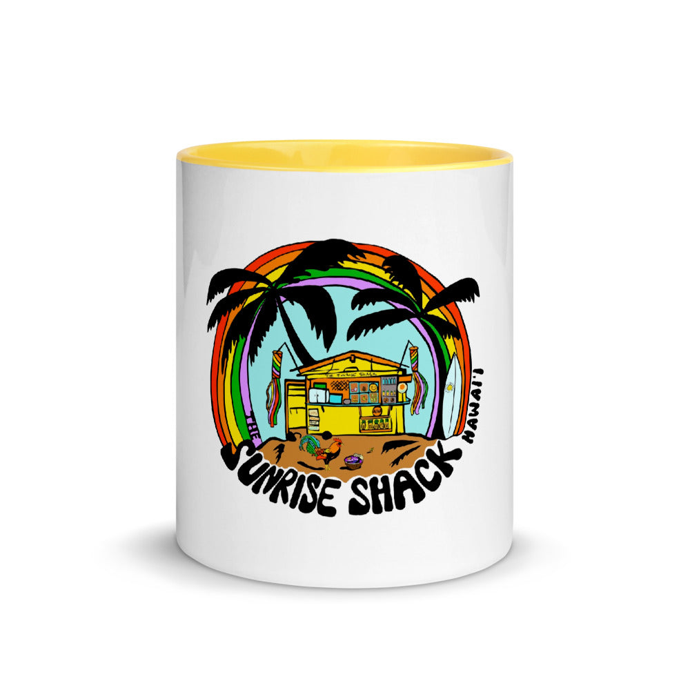 Shack Cartoon Mug with Yellow vibes Inside