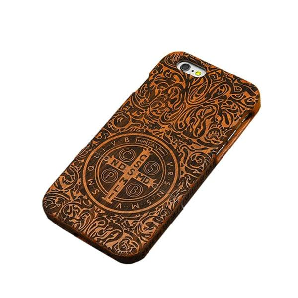 the best attitude 0510c cb365 Natural Wood Case For iPhone 7 6 6s Plus SE 5 5s Cover Genuine Real Carving  Rosewood Bamboo Cherry Blank Wooden Phone Cases Capa